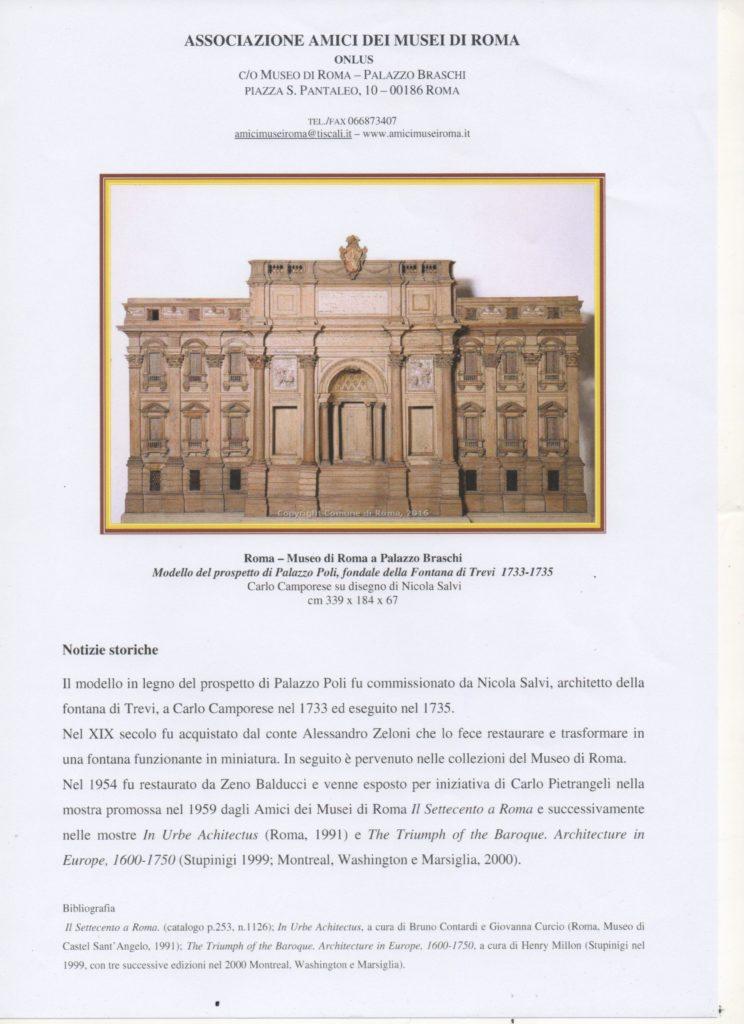 Modello del Prospetto ligneo di Palazzo Poli
